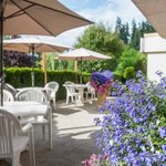Dine outside and enjoy the surrounding gardens