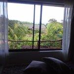 paisagem vista do quarto