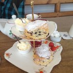 Fruit scone as part of the afternoon tea