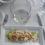 Monkfish,celery root,sweet corn succotash,sauv blanc