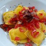 Ravioli all'amatriciana destrutturata...