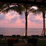 sunset from our seating area