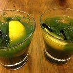 Gin & Basil smash cocktail