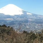 View of Mt Fuji from the bus during the Gray Line tour