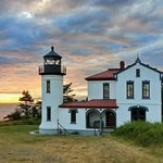 Admiralty Head Lighthouse at Sunset