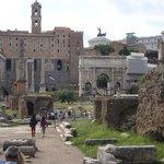 A view of the forum down via Sacra