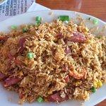 Cajun Fried Rice - sausage, crawfish, corn & onions