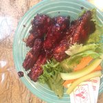 The blueberry barbecue sauce wings