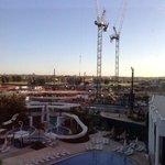 Noisy construction site.