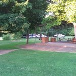 bbq/picnic area and trailer parking