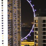 View of the Singapore flyer from our balconny at night