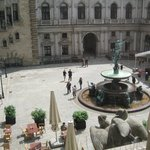 Interior courtyard by old stock exchange