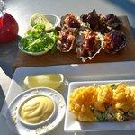 Delcious salt n pepper squid with Kilpatrick Coromandel oysters.