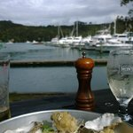 Battered oysters by the bay.