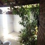 The bathroom + toilet