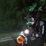 It could be you reeling us out of the cave in your Cave Diver class