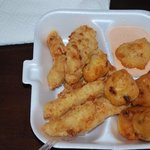 Fried grouper and fritters......OMG so sweet and good!