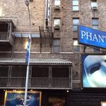 Outside of the Majestic Theatre (the home to phantom of the opera)