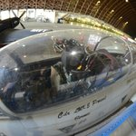 F-14A cockpit in blimp hanger