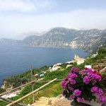 View from the balcony towards Positano