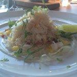 Crab starter with mango
