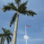 Flagpole in square
