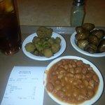 2 Veggies & beans.