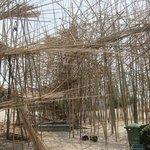 New bamboo art exhibit under construction