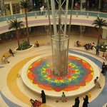 Water feature in the middle of the center