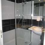 Room 316, small shower, toilet is in front of sink