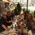 At the restaurant, One day in Provence private tours