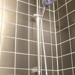 Dusche mit exklusiver Handbrause