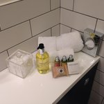 The lovely toiletries in the bathroom!