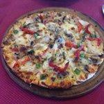 Gluten free Mexicano pizza. Delicious!!