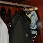 iron along with its board stored inside your closet