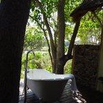 The bath on the terrace