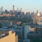 Manhattan View from Balcony at Sunrise