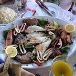 Grilled mixed fresh sea food