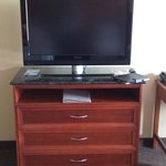 Flat screen and has up to date amenities.