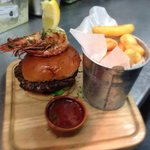 One of our specials - turf and turf burger