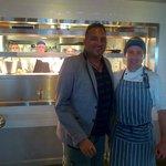 Head Chef Neil meeting Michael Cain