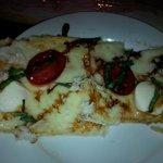 Crab caprese flatbread
