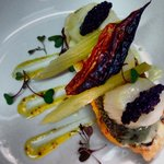 Fillet of Seabass with Pan Seared Scallops