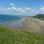 Rhossili Beach from the cliff top