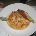 Lobster-shrimp-scallop panroast, Kruse and Muer on Wilshire, Troy, MI, July 2014