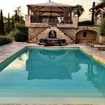 Pool at main villa