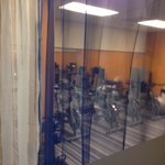 Small room near fitness center with spin bikes