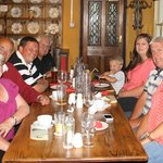 Our happy party at the Castle Inn newport