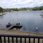 Beach/Dock area  on Old Forge Pond.  Live music on Sunday nights across the lake. Private deck.