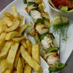 Fresh Monkfish, Scallop & Pepper Kebab